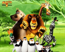 Papel de parede Madagascar: Amigos