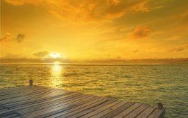 Papel de parede Horizonte de Sunrise Beach