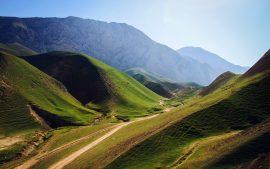 Papel de parede Montanhas verdes no Afeganistão
