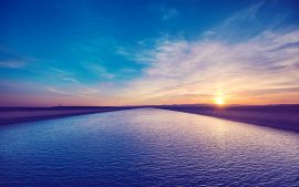 Papel de parede Pôr do sol ao longo do Canal