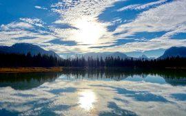 Papel de parede Reflexões de Lago ensolarado
