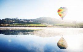 Papel de parede Reflexões de balão de ar quente