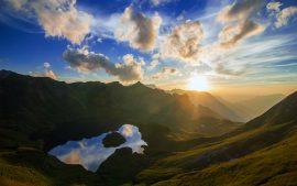 Papel de parede Schrecksee Lago pôr do sol