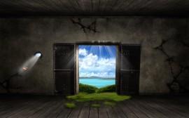 Papel de parede Paraíso Atrás da Porta