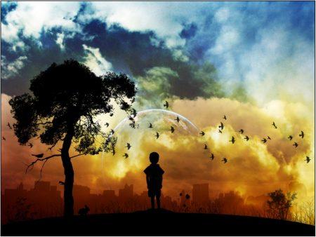 Papel de parede Pássaros – Paisagem Imaginária para download gratuito. Use no computador pc, mac, macbook, celular, smartphone, iPhone, onde quiser!