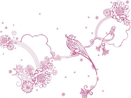 Papel de parede Pássaros – Rosa e Delicado para download gratuito. Use no computador pc, mac, macbook, celular, smartphone, iPhone, onde quiser!