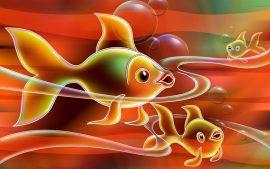 Papel de parede Peixe – Pintura