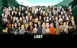Papel de parede Personagens de Lost em Desenho