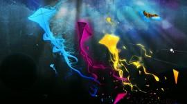 Papel de parede Pipas Coloridas