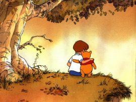 Papel de parede Pooh – Abraço Amigo