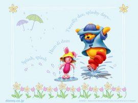 Papel de parede Pooh – Capa de Chuva