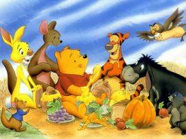 Papel de parede Pooh – Com a turma