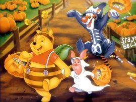 Papel de parede Pooh – Halloween
