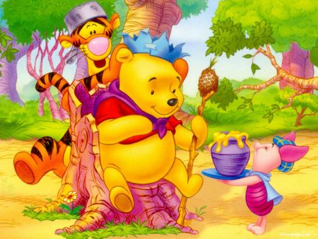 Papel de parede Pooh – Rei para download gratuito. Use no computador pc, mac, macbook, celular, smartphone, iPhone, onde quiser!