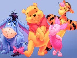 Papel de parede Pooh e seus amigos