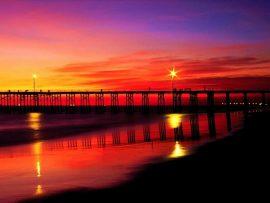 Papel de parede Pôr do Sol sobre a Ponte