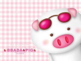 Papel de parede Porco – De Óculos