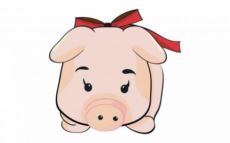 Papel de parede Porco – De Laço para download gratuito. Use no computador pc, mac, macbook, celular, smartphone, iPhone, onde quiser!