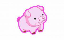Papel de parede Porco – Rosa