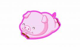 Papel de parede Porco Voando