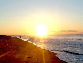 Papel de parede Por-do-sol na praia