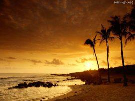 Papel de parede Por-do-sol no Kauai