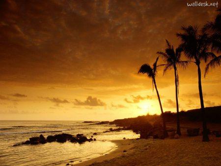 Papel de parede Por-do-sol no Kauai para download gratuito. Use no computador pc, mac, macbook, celular, smartphone, iPhone, onde quiser!