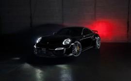 Papel de parede Porsche Tchart 911 Turbo – Preto