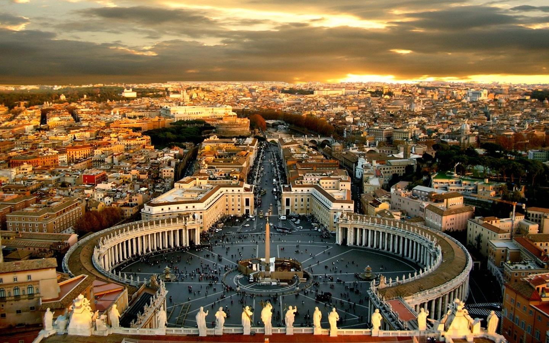Papel De Parede Praça De São Pedro No Vaticano, Roma