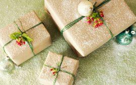 Papel de parede Presente de Natal – Branco