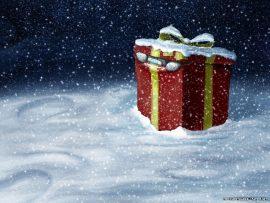 Papel de parede Presente de Natal – Surpresa
