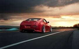 Papel de parede Nissan 350z Vermelho