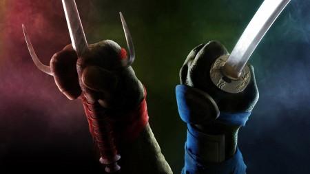 Papel de parede As Tartarugas Ninja: Raphael e Leonardo para download gratuito. Use no computador pc, mac, macbook, celular, smartphone, iPhone, onde quiser!