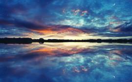 Papel de parede Céu Refletido