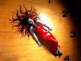 Papel de parede Relógio – Mulher