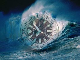 Papel de parede Relógio – Onda