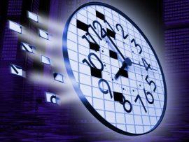 Papel de parede Relógio – Quadrados