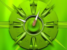 Papel de parede Relógio – Verde