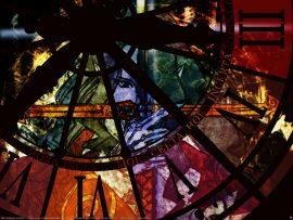 Papel de parede Relógio – Vitral