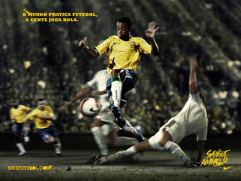 497ef488e7 Papel de Parede Robinho - Jogamos Bola Wallpaper para Download no ...