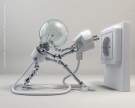 Papel de parede Robô – Lâmpada