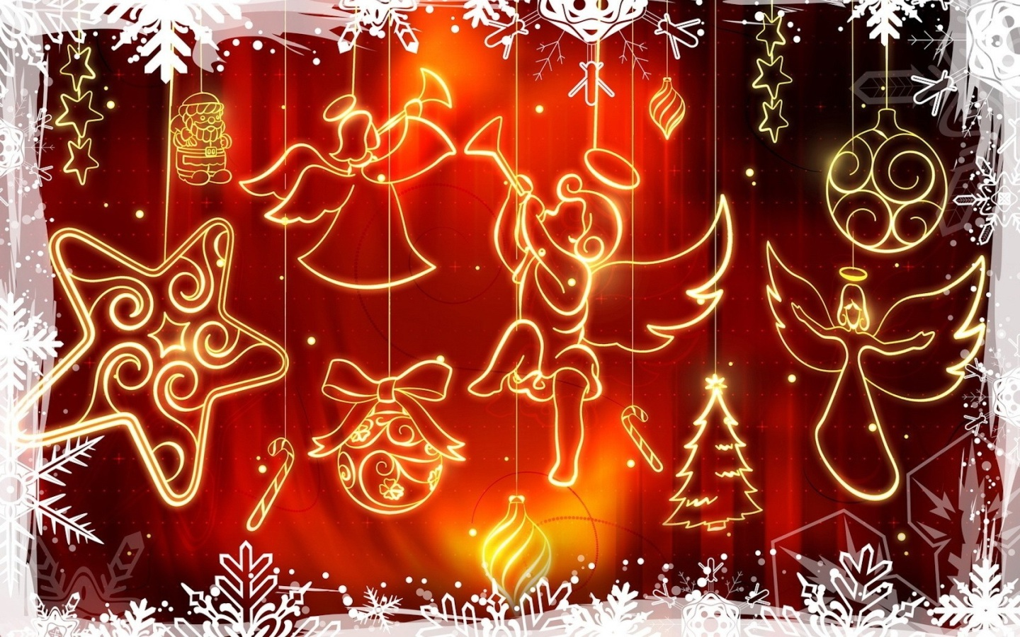 Papel De Parede Símbolos De Natal Wallpaper Para Download