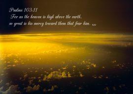Papel de parede Salmo 103:11