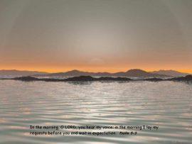 Papel de parede Salmo 5:3