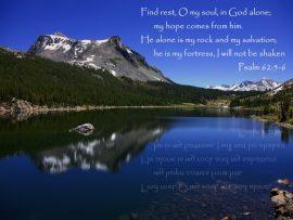 Papel de parede Salmo 62:5