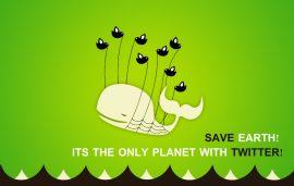 Papel de parede Salve a Terra – Twitter