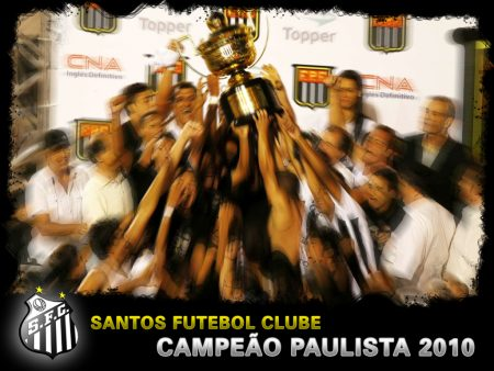 Papel de parede Santos – Campeão Paulista 2010 para download gratuito. Use no computador pc, mac, macbook, celular, smartphone, iPhone, onde quiser!