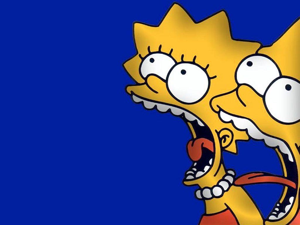 Papel de parede Os Simpsons – Lisa e Bart para download gratuito. Use no computador pc, mac, macbook, celular, smartphone, iPhone, onde quiser!