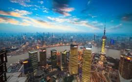 Papel de parede Fim de Tarde em Xangai