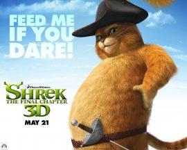 Papel de parede Shrek Forever – Gato de Botas